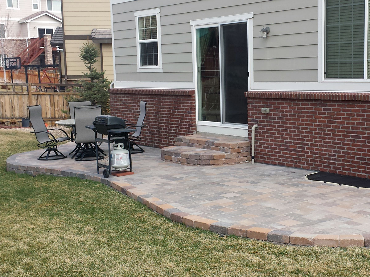 Concrete Paver Patio Landscaping Colorado