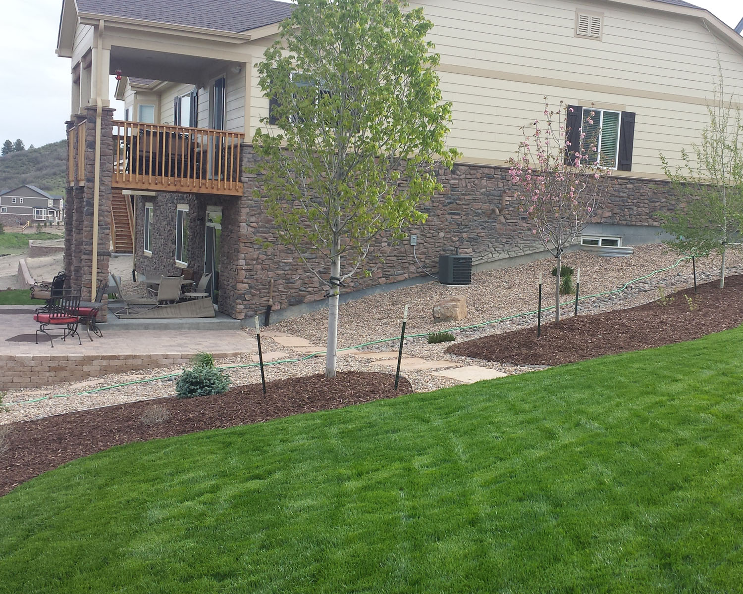 Front Yard, Backyard & New Home Construction Landscaping Colorado