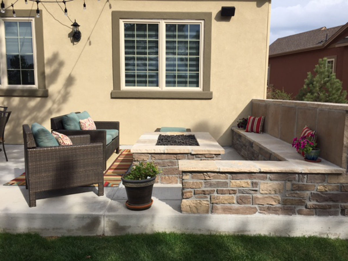 Concrete Patio Landscaping