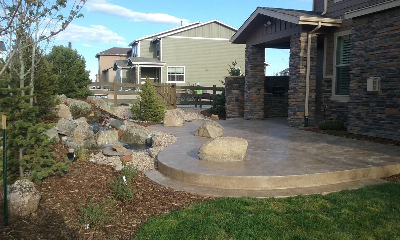 Concrete Landscaping Colorado Cement